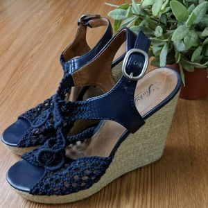 Lucky Brand Blue Wedges